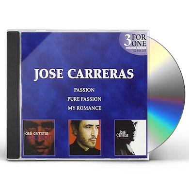 Jose Carreras PASSION/PURE PASSION/MY ROMANCE CD