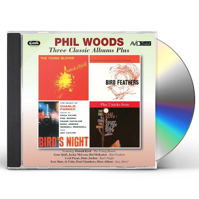 Phil Woods YOUNG BLOODS / BIRD FEATHERS CD