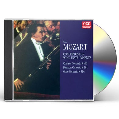 Wolfgang Amadeus Mozart CONCERTI FOR WIND INSTRUMENTS CD