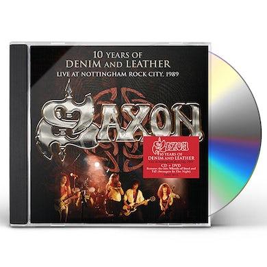 Saxon 10 YEARS OF DENIM & LEATHER: LIVE NOTTINGHAM ROCK CD