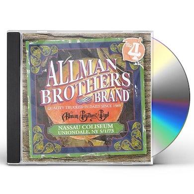 The Allman Brothers Band  NASSAU COLISEUM, NY 5/1/73 CD