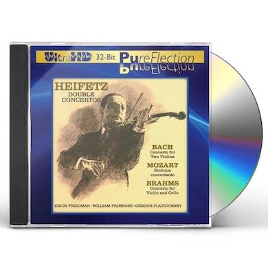 Jascha Heifetz DOUBLE CONCERTOS-J.S. BACH MOZART BRAHMS CD