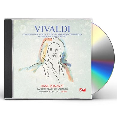 Vivaldi CONCERTO FOR VIOLIN STRINGS & BASSO CONTINUO IN G CD