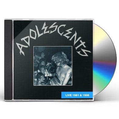 Adolescents LIVE 81-86 CD
