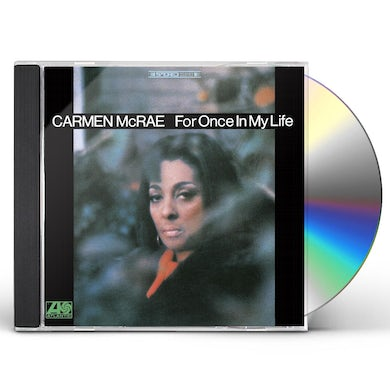 Carmen McRae FOR ONCE IN MY LIFE CD