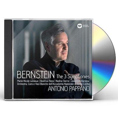 Antonio Pappano BERNSTEIN: SYMPHONIES NOS. 1 - 3 PRELUDE FUGUE CD