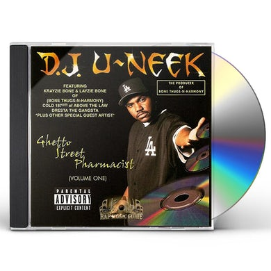 DJ U-Neek GHETTO STREET PHARMACIST VOL.1 CD