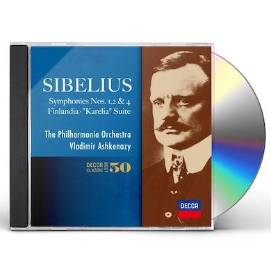 Vladimir Ashkenazy SIBELIUS THE SYMPHONIES NOS.1.2.4. CD