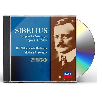 Vladimir Ashkenazy SIBELIUS: THE SYMPHONIES NOS.3.5-7. CD