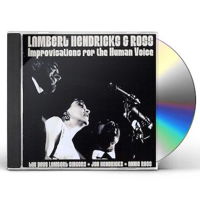 Lambert Hendricks & Ross IMPROVISATIONS FOR THE HUMAN VOICE CD