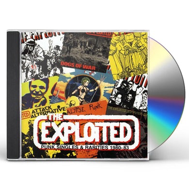 The Exploited PUNK SINGLES & RARITIES CD