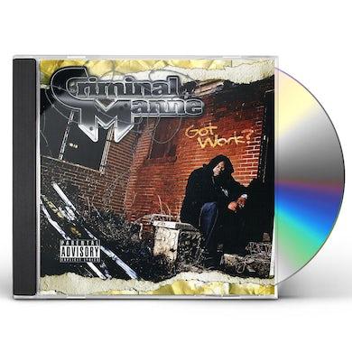 Criminal Manne GOT WORK CD