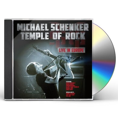 The Michael Schenker Group TEMPLE OF ROCK: LIVE IN EUROPE CD