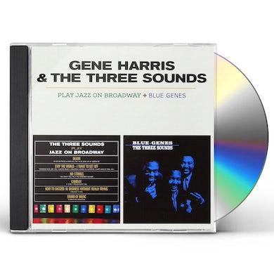 Gene Harris / The Three Sounds PLAY JAZZ ON BROADWAY + BLUE GENES CD