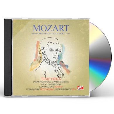 Wolfgang Amadeus Mozart MISSA BREVIS NO. 4 IN D MAJOR K. 194 CD