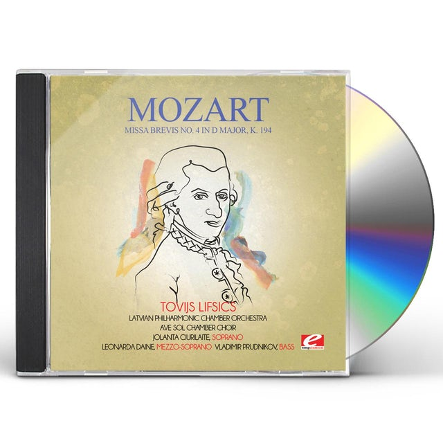 Mozart MISSA BREVIS NO. 4 IN D MAJOR K. 194 CD