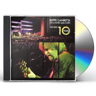 Beppe Gambetta LIVE AT THE TEATRO DELLA CORTE / FIRST 10 YEARS CD