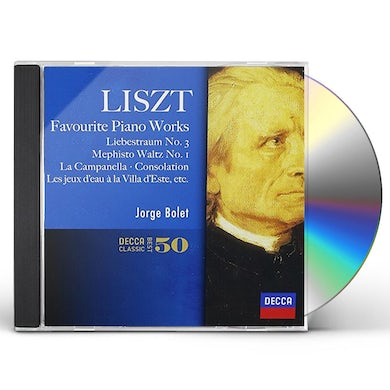 Jorge Bolet LISZT FAVORITE PIANO WORKS CD