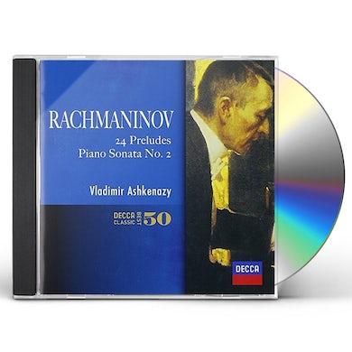 Vladimir Ashkenazy RACHMANINOV 24 PRELUDES. PIANO SONATA CD