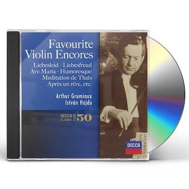 Arthur Grumiaux FAVOURITE VIOLIN ENCORES CD