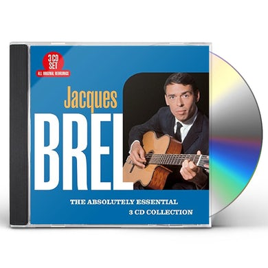 Jacques Brel ABSOLUTELY ESSENTIAL 3 CD COLLECTION CD