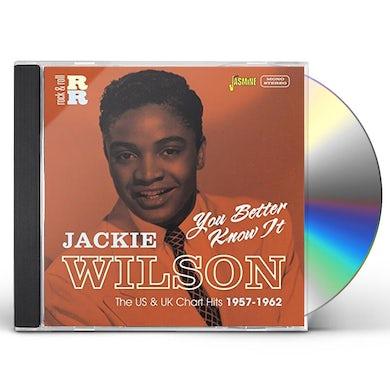Jackie Wilson YOU BETTER KNOW IT:U.S & U.K CHART HITS 1957-62 CD