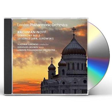 London Philharmonic Orchestra Rachmaninov: Symphony No. 3/10 Songs CD