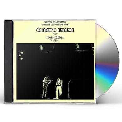 Demetrio Stratos RECITARCANTANDO (LIVE) CD