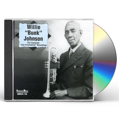 Bunk Johnson COMPLETE JAZZ INFORMATION RECORDINGS CD