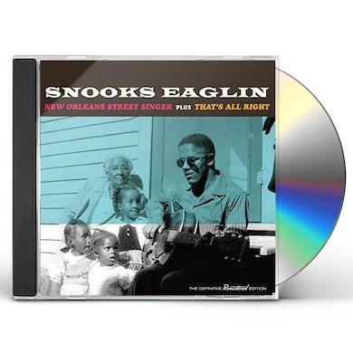 Snooks Eaglin NEW ORLEANS STREET SINGER/THAT'S ALL RIGHT CD