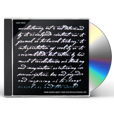 Carl Craig MORE SONGS ABOUT FOOD & REVOLUTIONARY ART CD