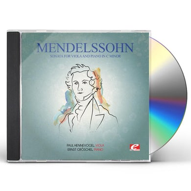 Felix Mendelssohn MENDELSSOHN: SONATA FOR VIOLA & PIANO IN C MINOR CD