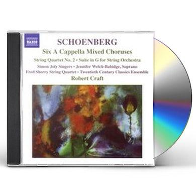 Schoenberg SIX A CAPPELLA FOLKSONGS CD