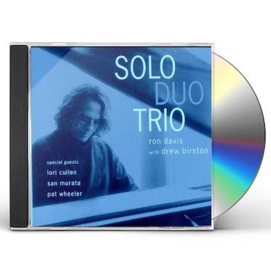 Ron Davis SOLO DUO TRIO CD