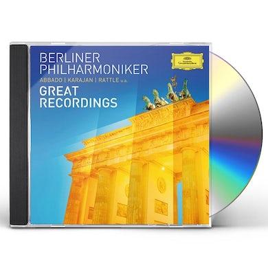Berliner Philharmoniker GREAT RECORDINGS CD