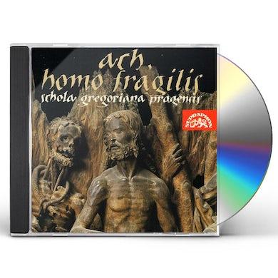 Schola Gregoriana Pragensis AH HOMO FRAGILIS (O FRAILTY OF MAN) CD