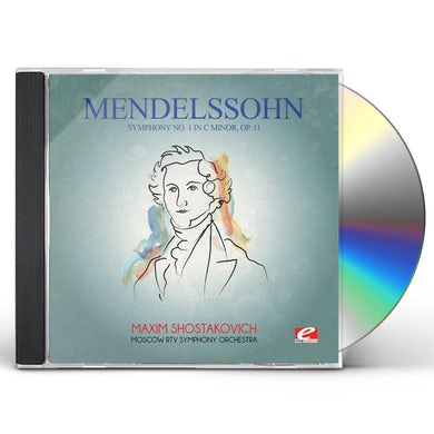 Felix Mendelssohn MENDELSSOHN: SYMPHONY NO 1 IN C MINOR OP 11 CD