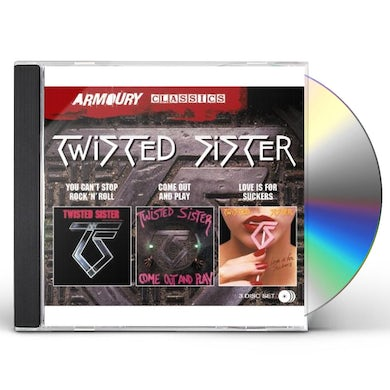 Twisted Sister YOU CAN'T STOP ROCK N ROLL / COME OUT & PLAY / LOV CD
