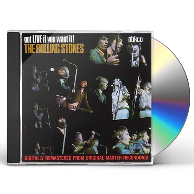 The Rolling Stones GOT LIVE IF YOU WANT IT! CD