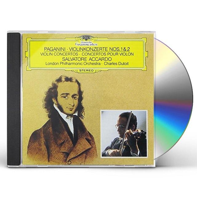 Salvatore Accardo PAGANINI: VIOLIN CONCERTOS NOS.1 & 2 CD