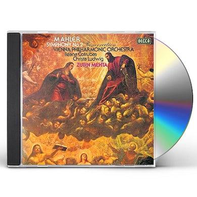 Zubin Mehta MAHLER: SYMPHONY NO.2 'AUFERSTEHUNG' CD