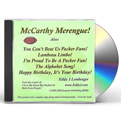 Eddy J Lemberger MCCARTHY MERENGUE CD