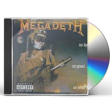 Megadeth SO FAR SO GOOD SO WHAT CD