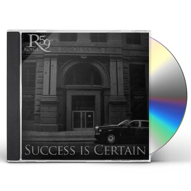 "Royce Da 5'9"" SUCCESS IS CERTAIN CD"