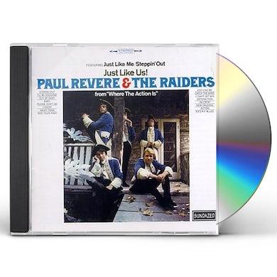 Paul Revere & Raiders JUST LIKE US CD
