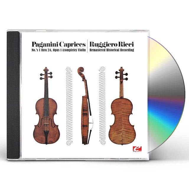 Ruggiero Ricci PAGANINI: 24 CAPRICES FOR SOLO VIOLIN, OP.1 CD