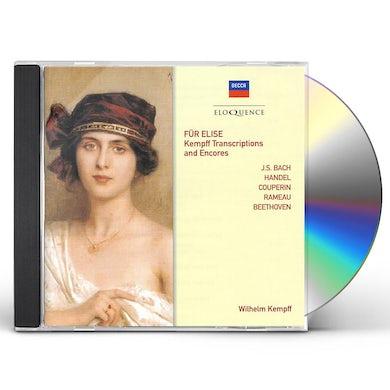 Wilhelm Kempff FUR ELISE: KEMPFF TRANSCRIPTIONS & ENCORES CD