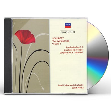 Zubin Mehta ELOQ: SCHUBERT - THE SYMPHONIES VOLUME 1 NOS 1 3 8 CD