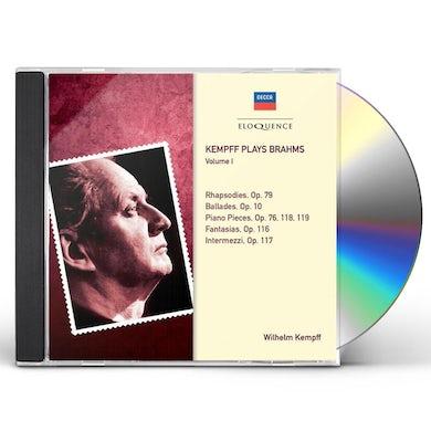 Wilhelm Kempff KEMPFF PLAYS BRAHMS 1 CD