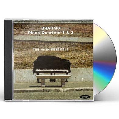 BRAHMS: PIANO QUARTETS NOS.1 & 3 CD